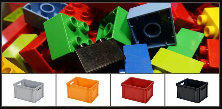 #Kinderzimmer schön aufgeräumt? In unseren #Stapelbehältern aus #Kunststoff sind #Legosteine und anderes #Spielzeug ordentlich verstaut! #Lego, #Barbie, #Puppen und Co. – mit unseren #Behältern kommt Ordnung ins #Zimmer. Und echte #Bauprofis können sogar noch #farblich sortieren: