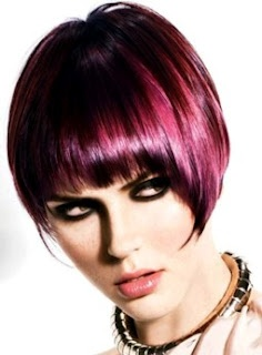 Hair Color Corner: Hot Purple-Plum Hair Colors