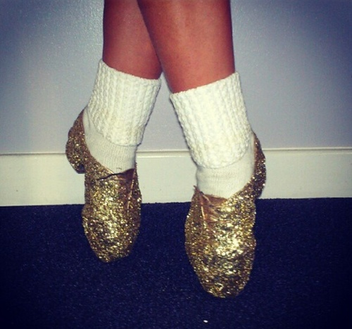 They're sparkly jazz shoes! I think if Angel Feet would let people wear  these, I might just start dancing again!