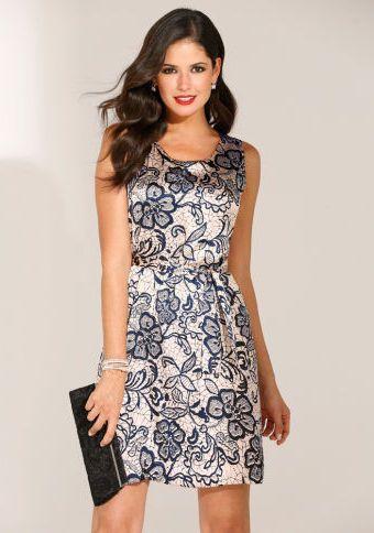 Krátké šaty bez rukávů #ModinoCZ #dress #formal #flower #style #saty #moda #elegance #formalni