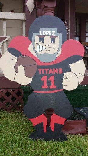 Titans Football Yard  signs 4ft