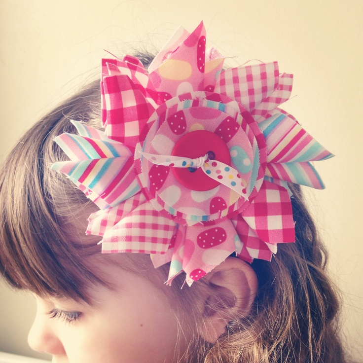 Large flower clip in summer colours :)