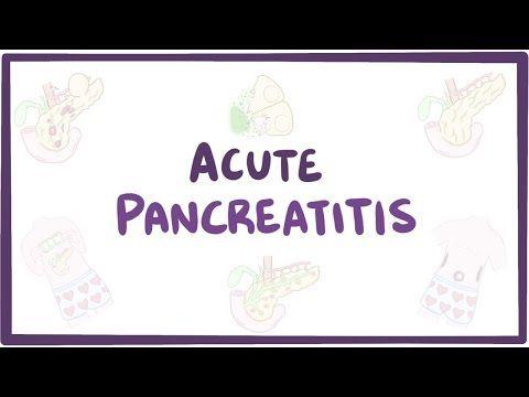 Acute pancreatitis - causes, symptoms, diagnosis, treatment, pathology - YouTube