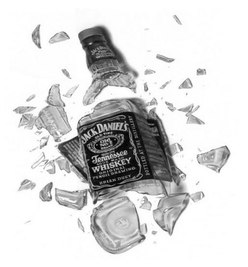 Broken jack daniels bottle pencil drawings pinterest for Meuble jack daniels
