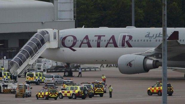 British fighter jets escort Qatar Airways plane