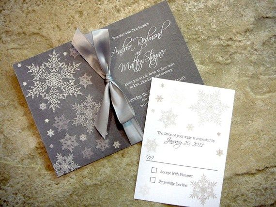 Kış düğünü davetiye örneği