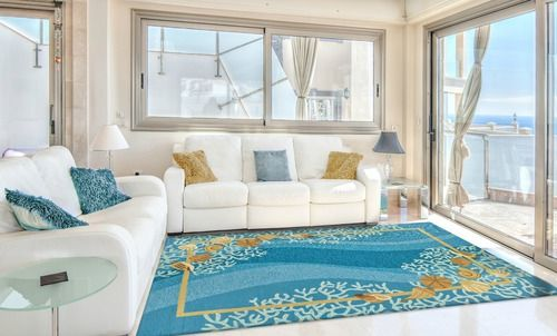 Shells and White Coral Area Rug