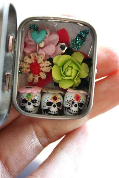 Dia de los Muertos portable shrine. The celebration of dead souls goes with you! Maybe next year...