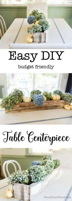 The perfect DIY centerpiece.  Practical for everyday use as it is easy to move when you need space on the table.  It is versatile too, create centerpieces to fit the seasons.