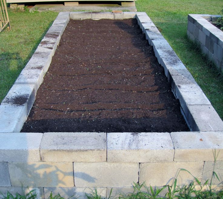 Concrete Block Garden Bed: 239 Best Images About Raised Bed Gardening On Pinterest