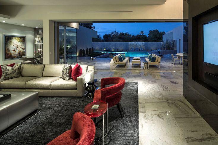 Bird's Nest, Птичье Гнездо, Brent Kendle, частный дом в штате Аризона, особняки в Скоттсдейле, Ричард Неутра, Рудольф Михаэль Шиндлер, серый фасад