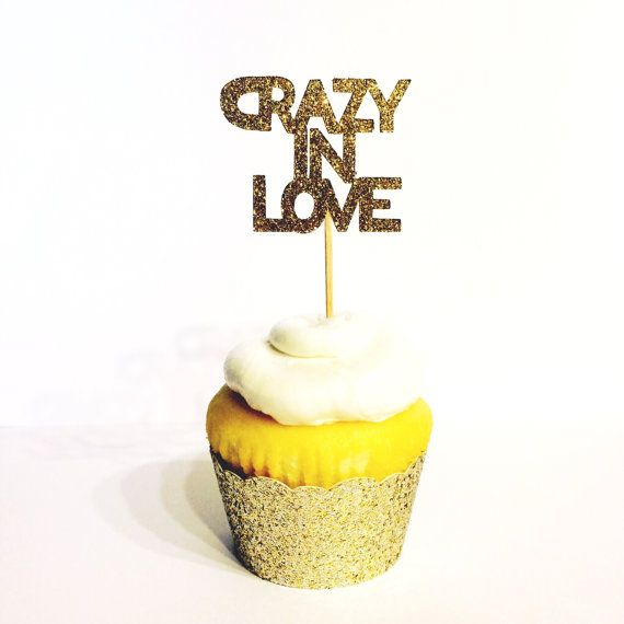 Crazy In Love Toppers - Cupcake Toppers inspired by Beyonce'