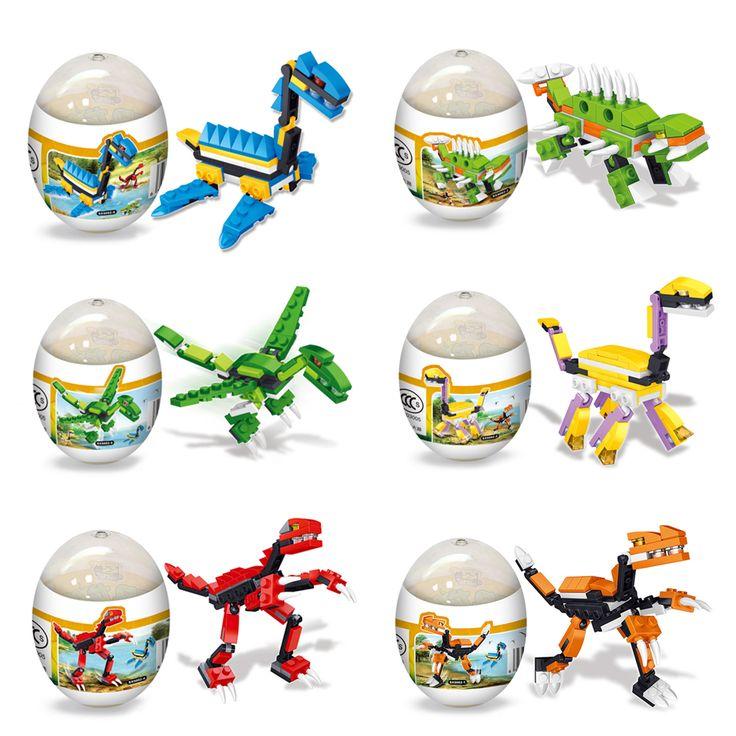 Random Delivery!! Assembly Deformation Dinosaur Eggs Plastic Novelty Educational T-REX Dinosaur Toys Gift for Children  Price: 2.42 USD