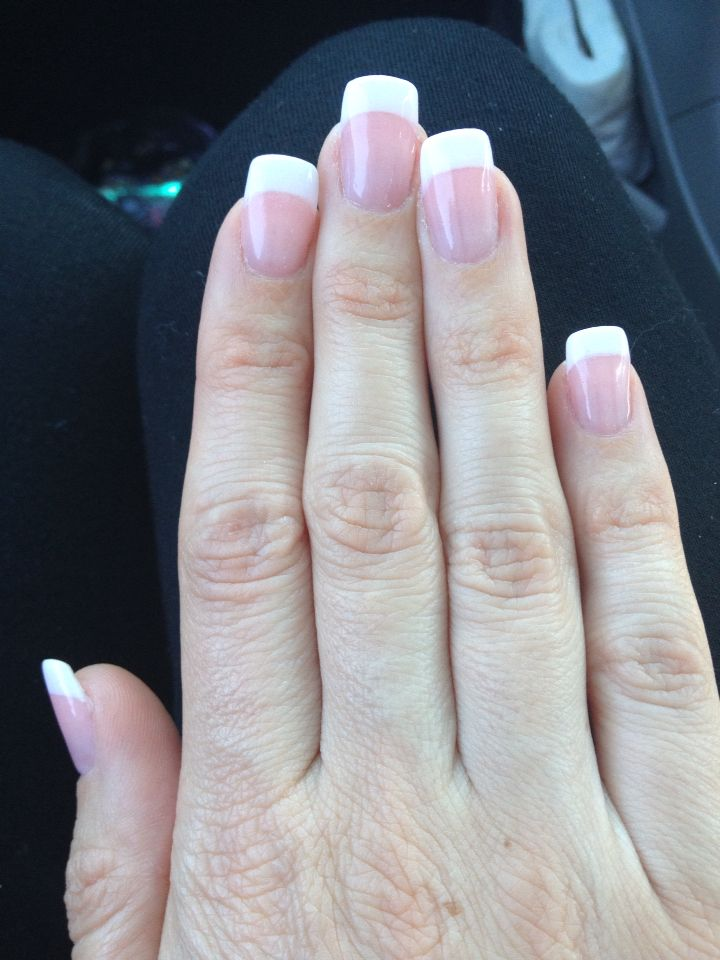 SNS French | ♥nails♥ | Pinterest | Sns nails, French nails and ...