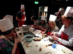 Action shot from the Chocolate Masterclass which was held in Manchester.