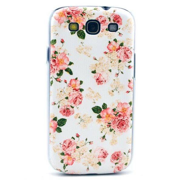 Rozen bloemetjes hardcase hoes voor Samsung Galaxy S3