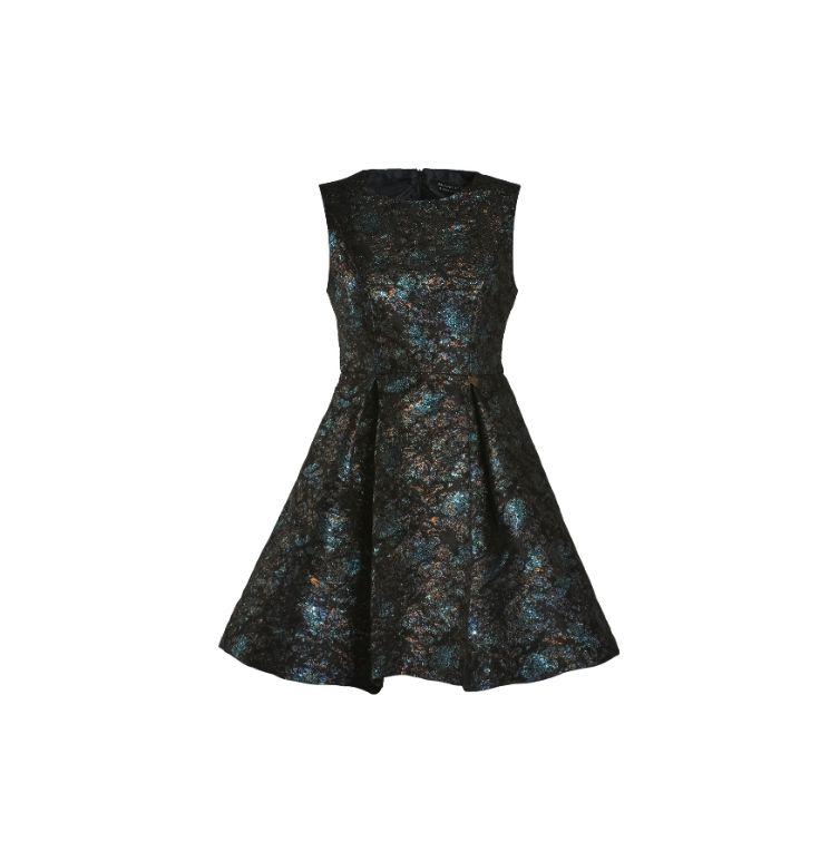 Naughty Dog FW1516 jacquard lurex dress