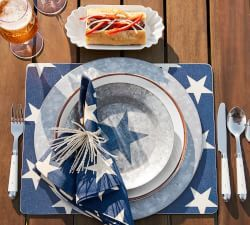 Dinnerware & Table Settings | Pottery Barn, stars and stripes, patriotic table setting
