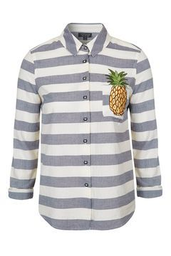Pineapple Embroidered Shirt