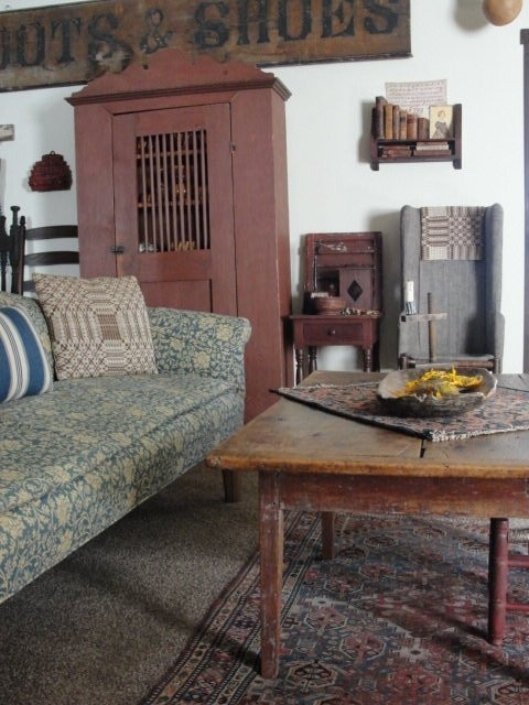 Primitive Country Living Room Decorating Ideas: Prim And Country Decor