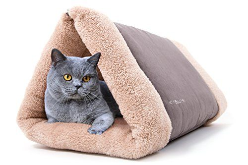 Cat Bed By Mar&ly Pets- Pet Bed 2 in 1 Tunnel or Flat Mat for Small Dog and Cat Mar&Ly Pets