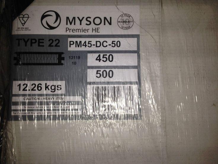 Myson Radiator K2 White 450 H x 500 W Premier HE Heating Plumber Plumbing in Home, Furniture & DIY, Heating, Cooling & Air, Radiators | eBay