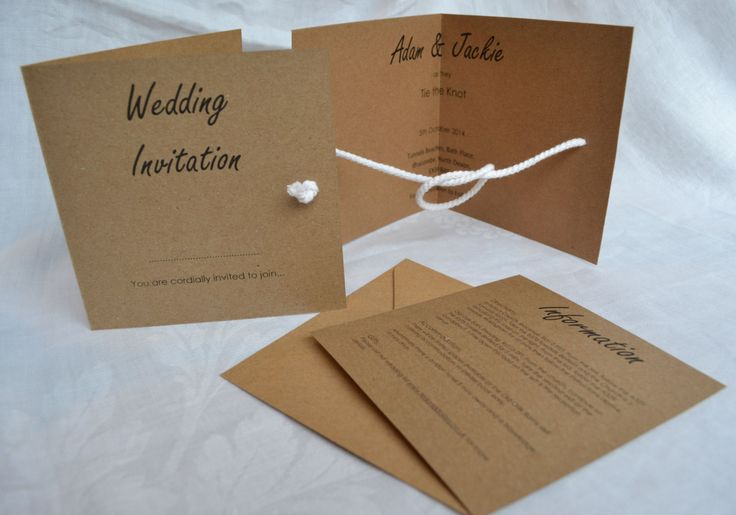 The Knot Addressing Wedding Invitations: NEW DESIGN...Tie The Knot Folded Wedding Invite & Rsvp