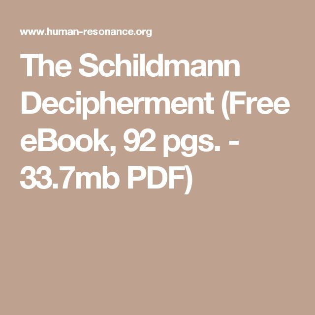 83 best books images on pinterest antique books the temple and the schildmann decipherment free ebook 92 pgs fandeluxe Image collections