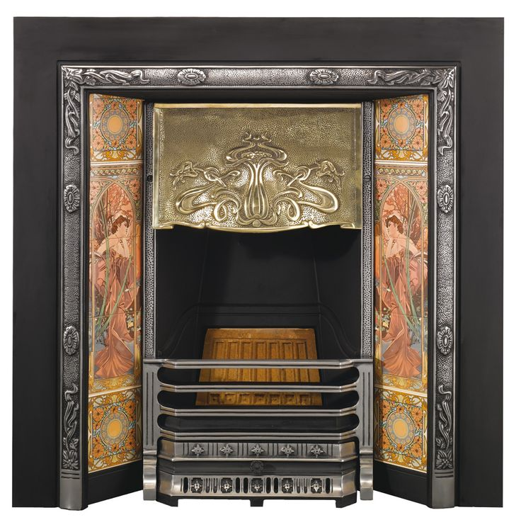 Perfection Fireplace Part - 33: With All The Exuberance Of Century Fin De Siècle Style, The Stovax Art  Nouveau Insert Fireplace Captures The Erau0027s Flowing Design Motifs To  Perfection