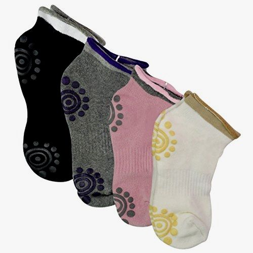 Rbenxia Women Girl's Yoga Pilates Socks Cotton Non Skid #Socks 4 #Pairs Made by #Rbenxia Color #Style 4. Silicone dots, All grip non slip. Made of breathable cotton, absorb sweat, freely breath. Soft and comfortable keep your foot warm.. Arch bracing provides additional support and custom fit, allows you to safely practice. Pack of 4 pairs, fit for size Small/Medium
