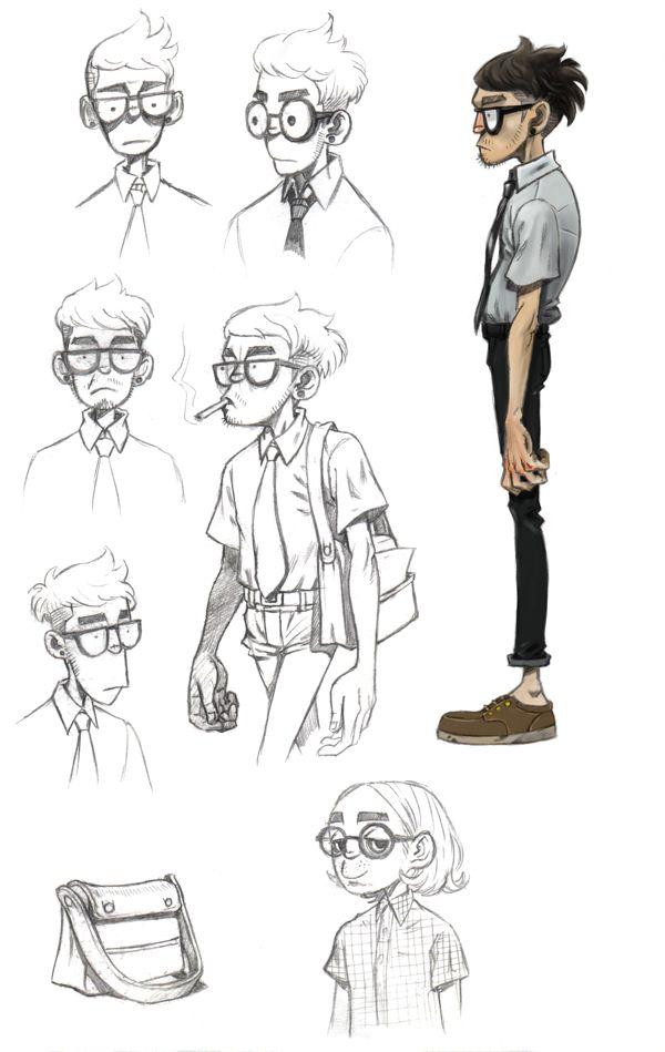 Círculo vicioso: Diseño de personajes por Jae Il Hijo, a través de Behance