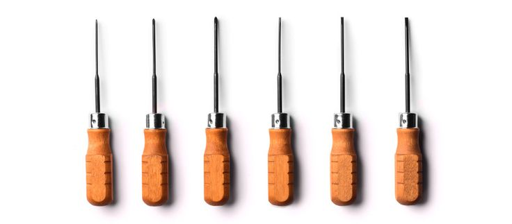 Wood Handled Mini Screwdriver Set of 6 - Kaufmann Mercantile