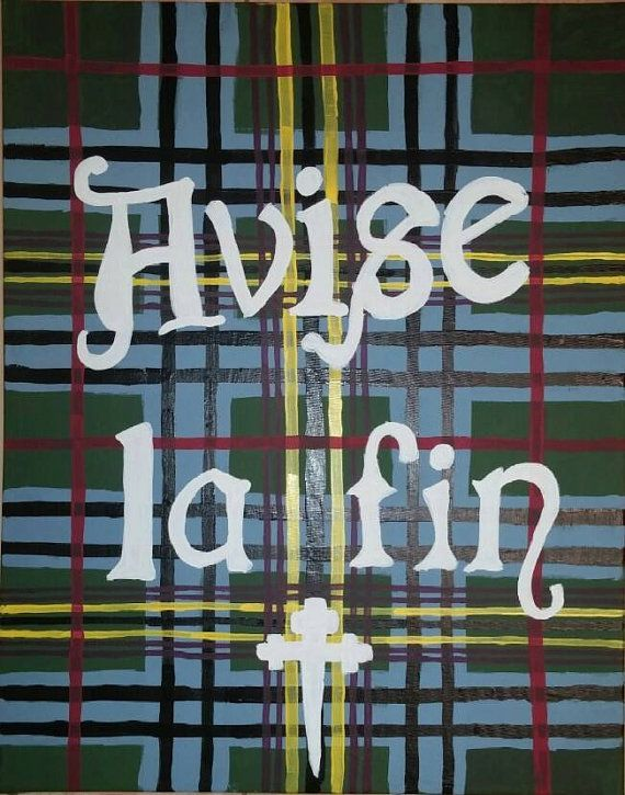 Personalized family tartan and crest motto. Hand painted plaid pattern and a painter that will do the research for you!