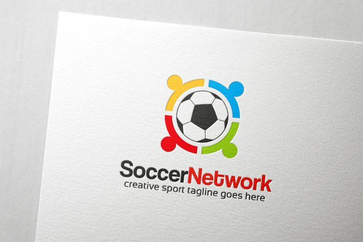 Soccer Community Logo 614319 Logos Design Bundles In 2021 Community Logo Logo Templates Logo Design