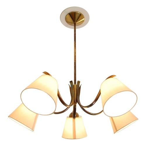 Austrian brass chandelier - $2295.Austrian Brass, Brass Chandeliers