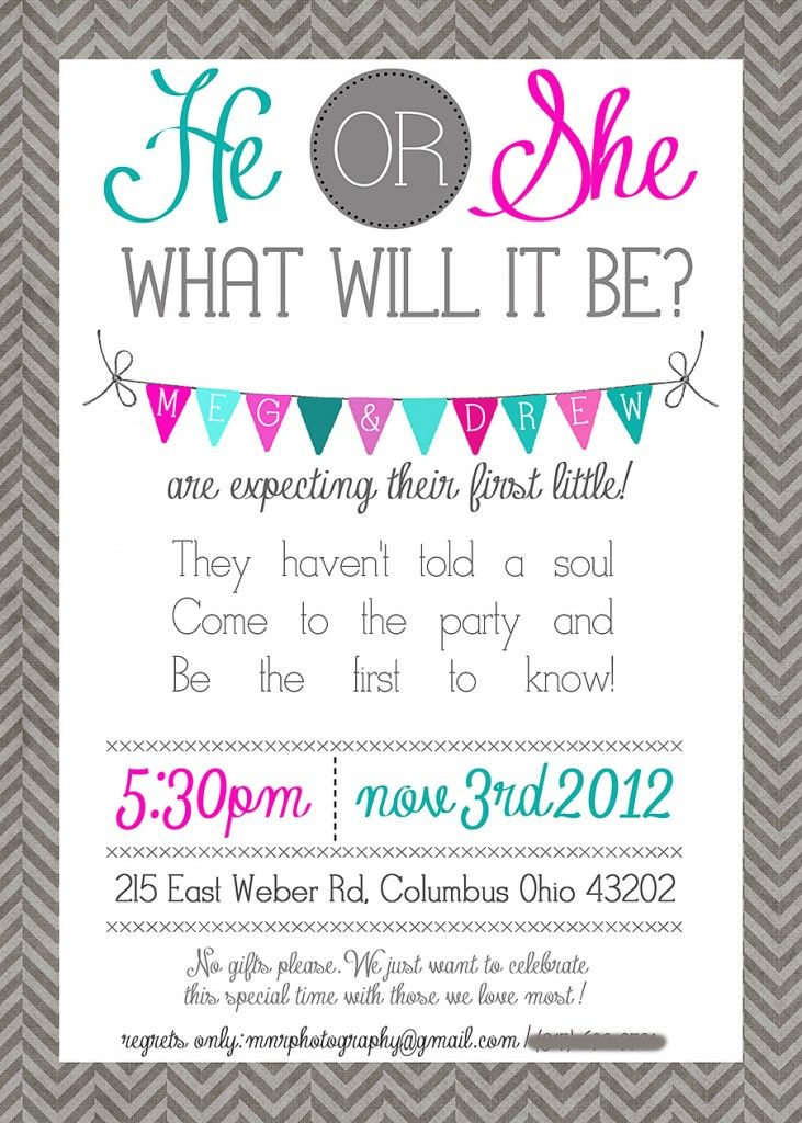 42 best images about Baby Shower Activities – Baby Gender Reveal Party Invitation Wording
