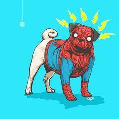 Cães Marvel, prontos para salvar o mundo!   Nerd Da Hora