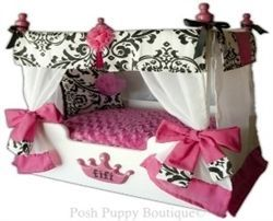 Luxury Princess Canopy Bed- Bella Hot Pink  sc 1 st  Pinterest & 52 best Dog Beds images on Pinterest   Pet beds Dog houses and ...