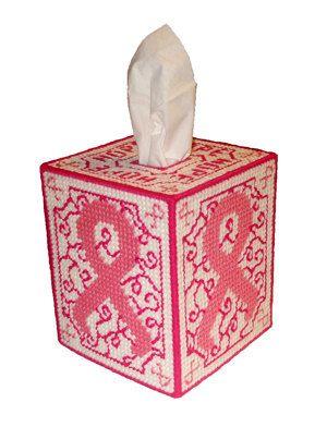 Mama cáncer esperanza tejido caja cubierta de lona plástica