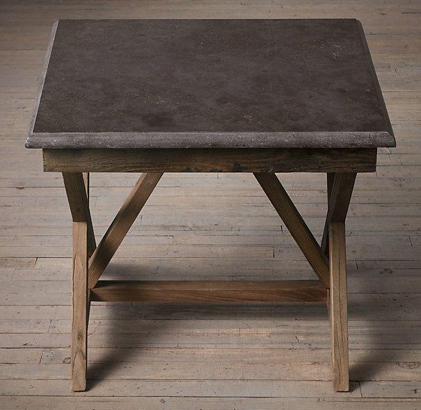 Bluestone X-Base Side Table RH 25.25sq, 22H : upstairs ...
