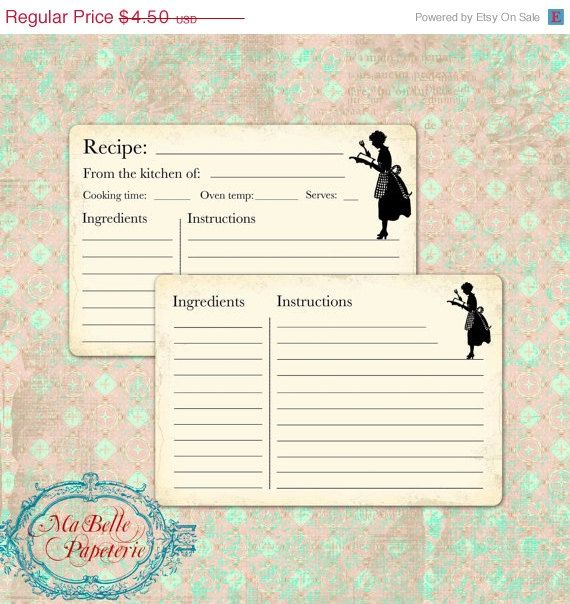 Best Recipe Card Templates Images On   Recipe Card