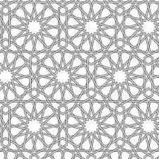 Resultado de imagen para azulejos arabes para colorear