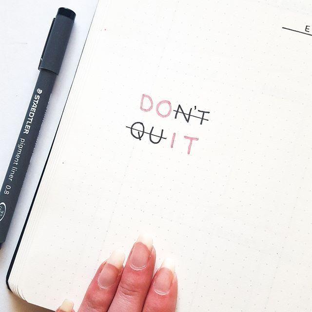 Liebe diesen motivierenden Schriftzug! #Motivieren…