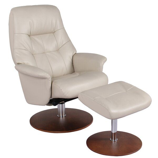 Safire Manual Swivel Recliner With Ottoman Recliner With Ottoman