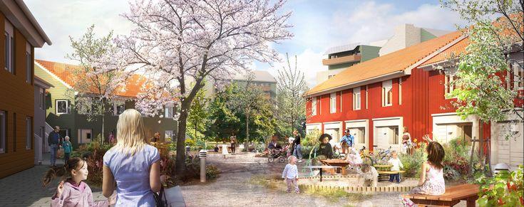 Aspö, Skövde. Nybyggnad av bostäder med ekologisk profil. http://www.abako.se/vara-projekt/aspo-skovde/