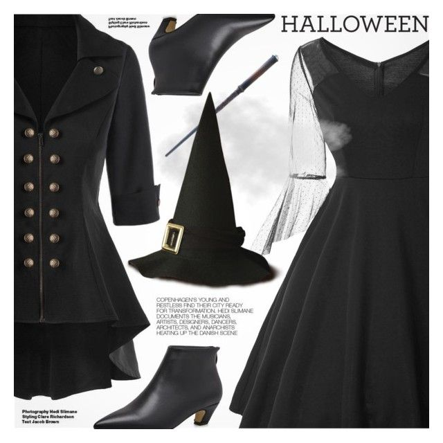 """""""Halloween Party"""" by pokadoll ❤ liked on Polyvore featuring Hedi Slimane"""