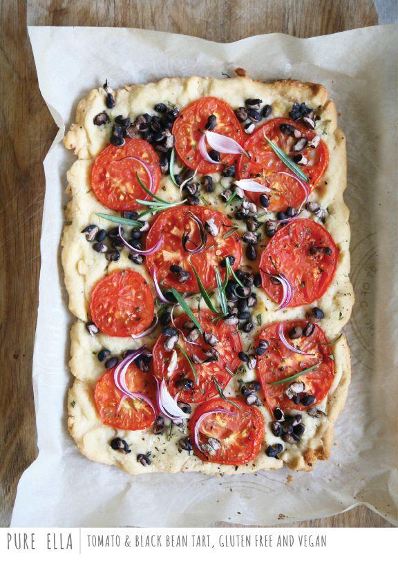 Tomato-Black-Bean-Tart-Gluten-free-Vegan   Eat / Make   Pinterest