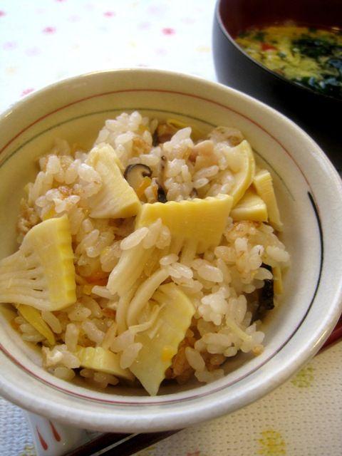 筍入り五目炊き込みご飯。 | 美肌レシピ