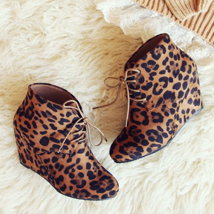 Wild Shadows Booties, Leopard Print Booties from Spool No.72 | Spool No.72