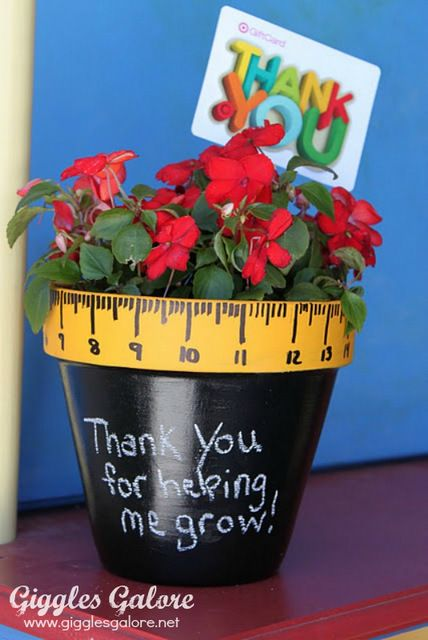 02-Flower-Pot - ArtsyCraftsyMom.com Teachers love cute handmade gifts from their students. Check out these 12 Useful Crafts For Teachers Day that Kids Can Make without too much time or effort!